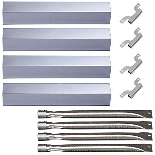 Votenli S9231A (4-Pack) S1405A(4-Pack) Stainless Steel Heat Plate Burner Carry Over Tube Replacement Brinkmann Pro Series 8300 3 Burner -