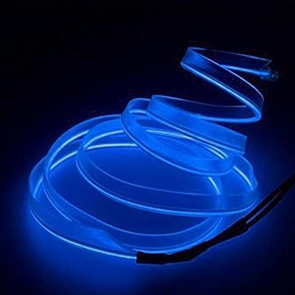 para decorar el coche con 12 V Wildlead ne/ón Alambre de sujeci/ón de luz para coche flexible 3 m
