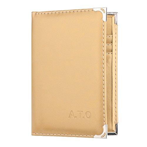 Passeport De Couleur Document Position Unie Els1002 Ato Sac Cuivre solide Angle Paquet Multi Carte Solide Certificat Gd carte Somesun Multi 4Afwxgz5
