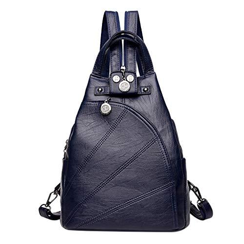 Vielgluck Retro Pu Leather, Casual Style Flat Schoolbag College Bag Hiking Travel Daybag Fashion Mutifunction Bookbag