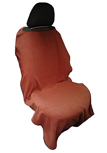 Y 40 THIEVES Removable Sweat Towel Protect Front Bucket Seat Free for Cars Truck SUV After Gym, Runs, Swimming, Biking, Yoga, Surfing & Beach Trips (Coffee Brown)