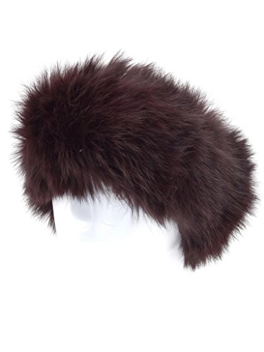 Fur Winter Knit Rabbit Fur Ski Snow Plush Headwrap Headband Earwarmer Neckwarmer DBN