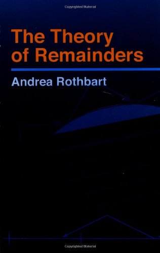 The Theory of Remainders (Dover Books on Mathematics)