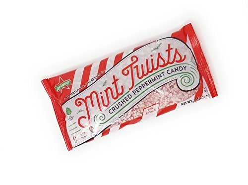 Crushed Peppermint Candy - Atkinson's Mint Twists Crushed Peppermint Candy for Baking 8 Ounces (1 Bag 8 oz)