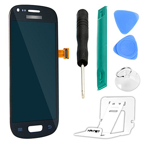 Easy To Shop Blue LCD Display + Touch Screen Digitizer Assembly for Samsung Galaxy S3 Mini i8190 [Non-retail Packaging]