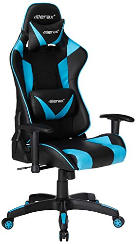 Merax High Back Gaming Chair Enlarged Racing Chair Home Office Computer Chair (Blue) Merax