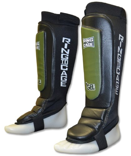 MMA Grappling GelTech shin guards - Covered Back. for MMA, Muay Thai, Kickboxing