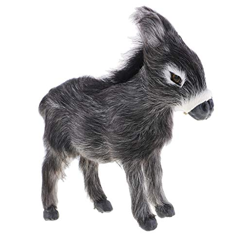 Fityle Animals Figurine Donkey Figure Model Home Ornaments Kids Birthday Gift by Fityle