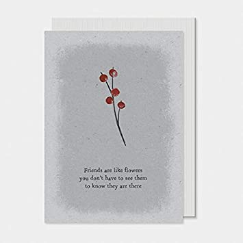 East Of India Simple Berry Friends Are Like Flowers Greetings Card 12x165cm Amazoncouk Office Products