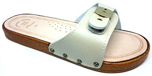 MAURI - Zapatillas de estar por casa de Piel para hombre beige arena 42