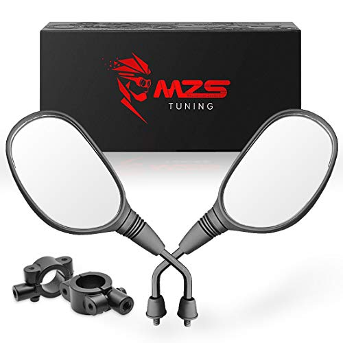 MZS ATV Mirrors Rear View 7/8 Handlebar Mount for Arctic Cat Can-am Honda Kymco Kawasaki KTM Suzuki Polaris Yamaha ATV's Motorcycle Scooter Moped GY6 Dirt Quad Bike Bicycle Cruiser Coolster Snowmobile (Polaris Sportsman 700 Plastic)