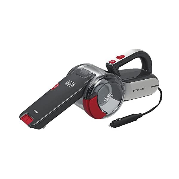 BLACK+DECKER Handheld Vacuum For Cars, Cordless, Pivoting, Black (BDH1200PVAV)