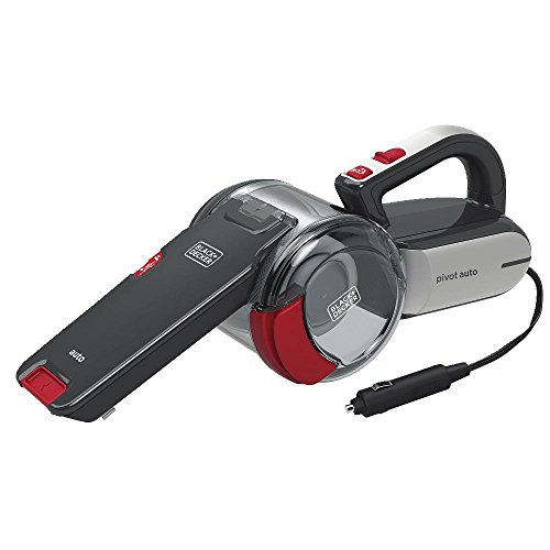BLACK+DECKER Black & Decker Automotive Pivot Hand Vacuum, Black ()