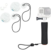GoPro Surf Bundle - The Handler floating grip & 2 Mounts w/ leash. GoPro Official Limited Edition combo - Water/Boardsports: Surfing, SUP , Snowboard, Kayak, Prone,Outrigger,Boating, Diving