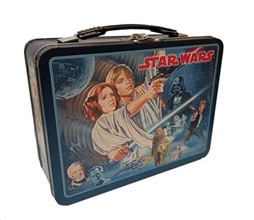 The Tin Box Company 344707-DS Star Wars Vintage Classic Tin Lunchbox, Black ()
