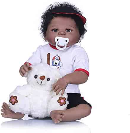 Pinky Lifelike 23 Inch 57cm Reborn Baby Dolls Full Body Silicone Soft Dolls  Realistic Looking Newborn 68dab9c1791d