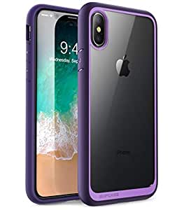 iPhone X Case Cover, Supcase, Clear Back Panel, Violet