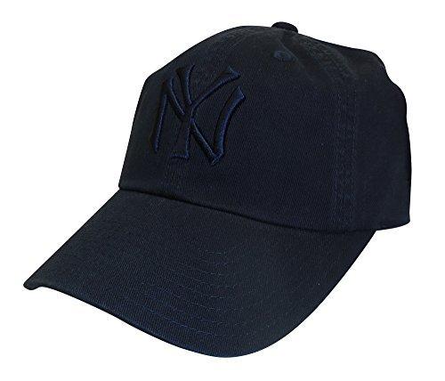 American Needle MLB New York Yankees Curved Brim Tonal Ballpark Strapback Cap, Navy