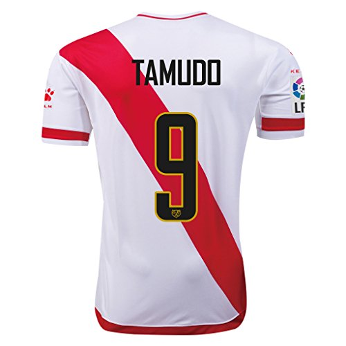 fan products of Rayo Vallecano #9 Tamudo 2015/16 Home Soccer Adult Football Jersey