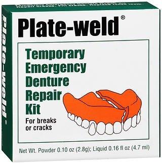 Plate-weld Temporary Emergency Denture Repair Kit, Pack of 6