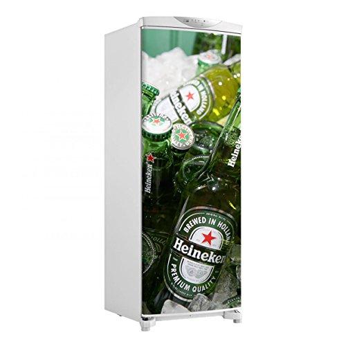 Adesivo geladeira envelopamento porta Cervejas heineken - até 1,50x0,60 m