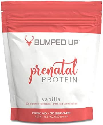 Prenatal Protein Vitamin Supplement Shake - Bumped Up - Taste Delicious - All Natural - Helps Morning Sickness Formula For a Healthy Baby and Mother (2lb bag) (Vanilla)