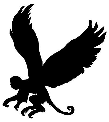 Flying Monkey Animal - Sticker Graphic - Auto, Wall, Laptop, Cell, Truck Sticker for Windows, Cars, Trucks
