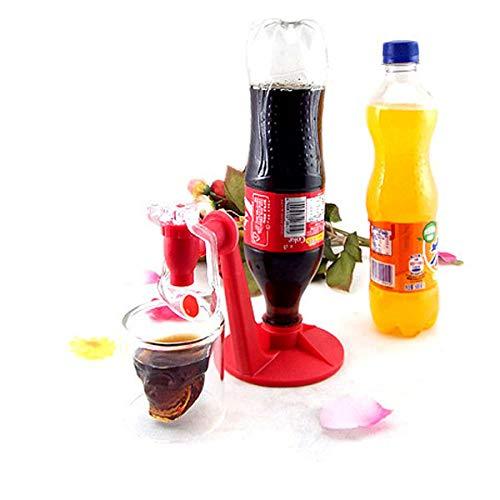 BESTONZON Dispositivo para Beber Agua con dispensador de refrescos de refresco de Agua de refresco Cola Soda con Grifo (Rojo): Amazon.es: Hogar