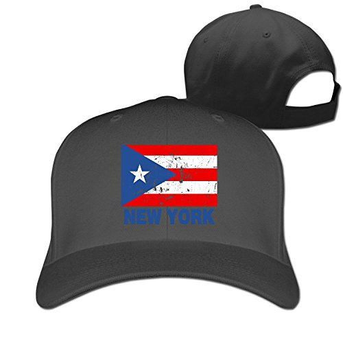 New York Puerto Rican Vintage Flag Snapback Fitted Baseball Sports Caps (Halloween Parade New York)