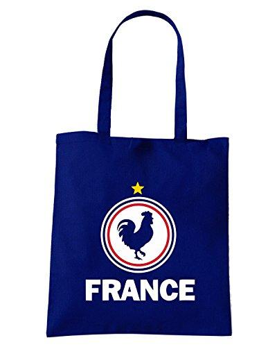 T-Shirtshock - Bolsa para la compra WC0049 FRANCIA FRANCE Azul Marino