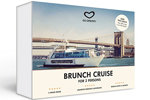 Boozy Brunch Jazz Cruise for Two in New York Experience Gift Card NYC - GO DREAM - Sent in a Gift Package ()