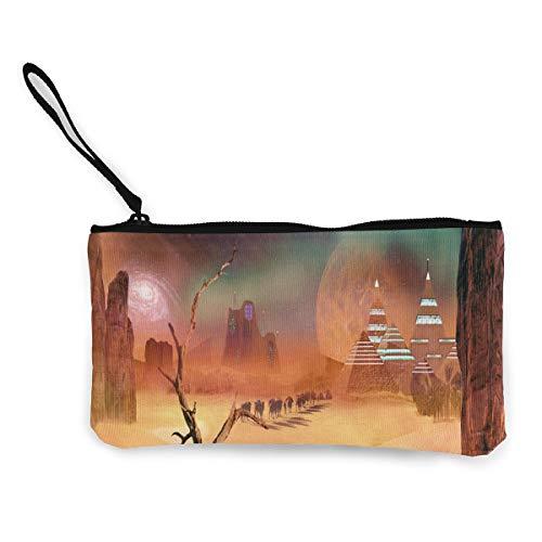 Quick Coin (Coin Purse Space Desert Women Zip Canvas Purse Wallet TravelCustomized Bag)