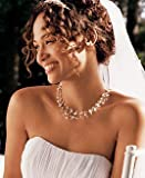 USABride Bridal & Bridesmaids Jewelry, Simulated Pearl & Illusion Wire Necklace & Earrings 524