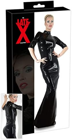 LATE X Latex Kleid, Medium, Schwarz