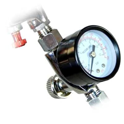 "TCP Global Brand Air Adjusting Valve Regulator with Gauge for Spray Guns and Pnuematic Tools (1/4"" NPT): Automotive"
