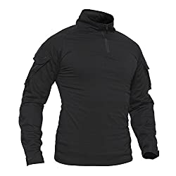 TACVASEN Men's Military Rapid Assault Sleeve Slim Fit Short Sleeve Combat T-Shirt