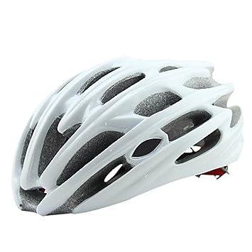 FTIIER Casco de Ciclismo Ultra Light para Exterior Casco de Bicicleta LED Luz Trasera Casco de