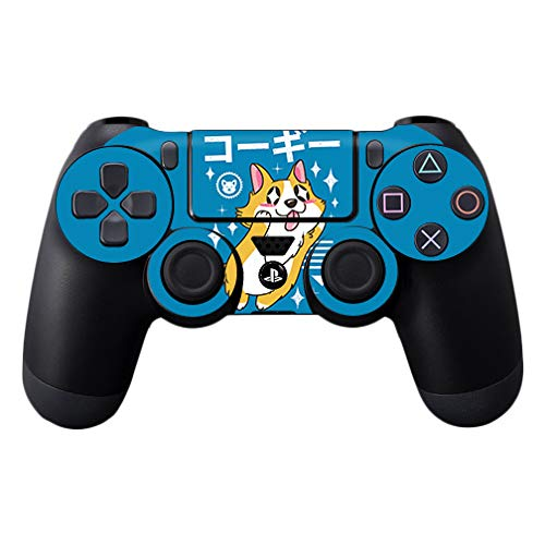 MightySkins Skin for Sony PS4 Controller - Corgi Kawaii | Protective, Durable, and Unique Vinyl Decal wrap Cover | Easy to Apply, Remove, and Change Styles | Made in The USA