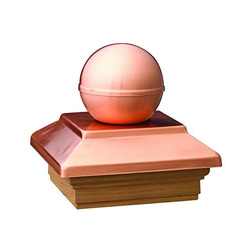 DeckoRail Pressure-Treated 6 in. x 6 in. Pine Copper Ball Top Post Cap ()