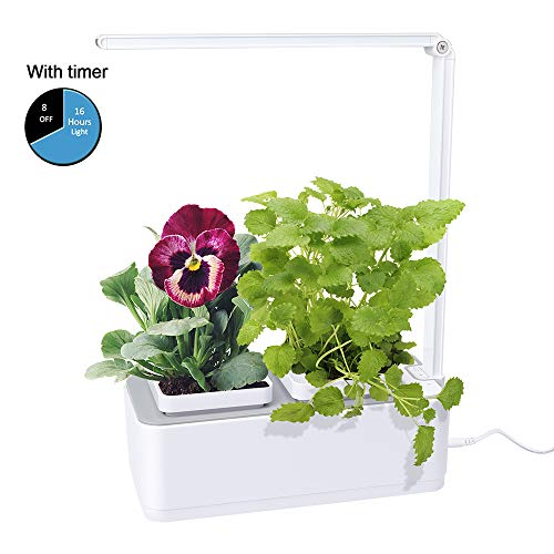 $54.99 Hydroponics Kits Indoor Herb Garden, BEAUTLOHAS. Hydroponics Growing System with Timer Function & 2 Self-Watering Garden Pots, LED Grow Light for Flower/Fruit/Vegetable, Smart Garden Kit for Home/Room/Kitchen/Office 2019