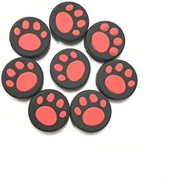 KEHUITONG Nintendスイッチ喜びコンNS NXコントローラーボタンケース猫ポウジョイスティックキャップアクセサリー用10個入りシリコーン親指グリップスティックキャップ (色 : 10pcs Red)