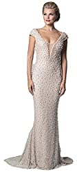Long Beaded Mermaid Dress