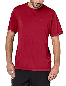 Jack Wolfskin Crosstrail Erkek T-Shirt - 1801671-2210 Kırmızı S