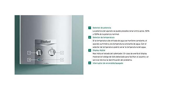 Vaillant green plus - Calentador atmomag exclusiv 11 xi gas natural clase de eficiencia energetica a\m: Amazon.es: Bricolaje y herramientas
