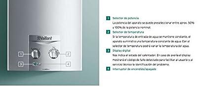 Vaillant green plus - Calentador atmomag exclusiv 11 xi gas natural clase de eficiencia energetica a\m: ...