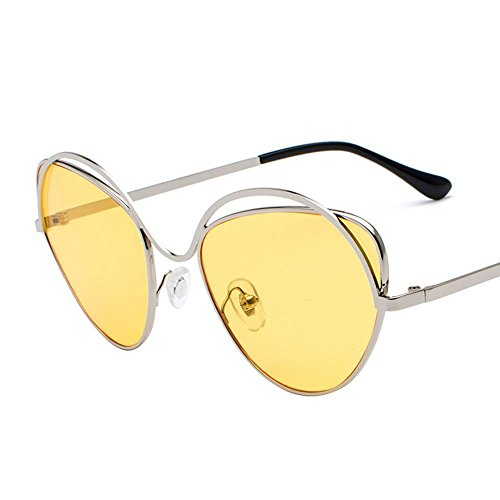 Aoligei Lunettes de soleil en métal verres de Dame Retro rond lunettes de soleil Zk0YMVfff