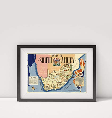200 Airlines African South - 1943 Map of South Africa|Union of South Africa. Printed in England by Thos. Forman & Sons Ltd|Title: