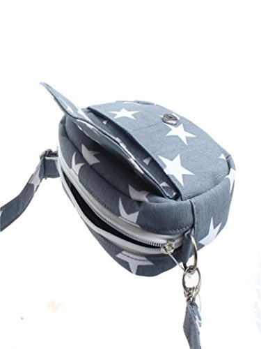 Soft Mini Body Messenger Small Bags Purse Gray Handbag Blue Change Coin Canvas Women Star Light Five Bag Cross Shoulder Pointed OqtpFxSwW
