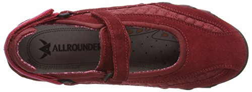 Allrounder by Mephisto NIRO C.SUEDE 48/W.MESH 46 MD RED/MD RED - Zapatillas De Deporte Para Exterior de cuero mujer rojo - Rot (MD RED/MD RED)