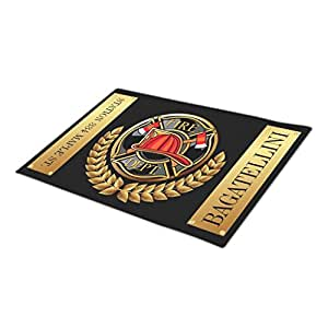 Rio-radio Fire Department Monogrammed Door Mat Fathers Day Modern Door Mat